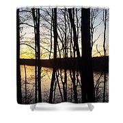 Setting Sun On Monroe Lake Bloomington Indiana Shower Curtain