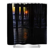 Setting Sun Pismo Beach Shower Curtain