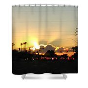 Setting Sun Shower Curtain