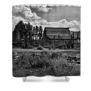 Settler's Barn Shower Curtain