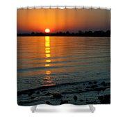 Settling Sun Shower Curtain