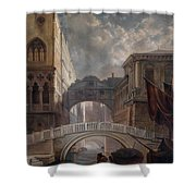 Seufzerbrucke Venice Shower Curtain