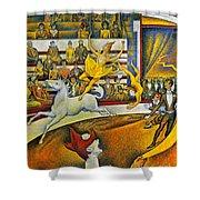 Seurat: Circus, 1891 Shower Curtain