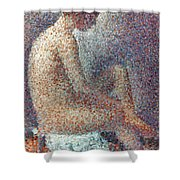 Seurat: Model, 1887 Shower Curtain