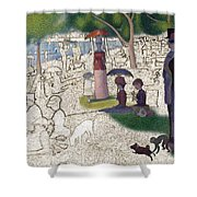 Seurat Sunday Afternoon Shower Curtain