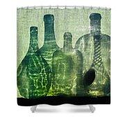 Seven Bottles Shower Curtain