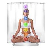 Seven Chakras Shower Curtain