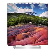 Seven Colored Earth In Chamarel. Mauritius Shower Curtain