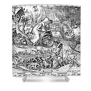 Seven Deadly Sins: Anger Shower Curtain
