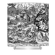 Seven Deadly Sins: Sloth Shower Curtain by Granger