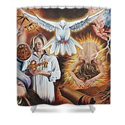 Seven-fold Spirit Of The Lord Shower Curtain
