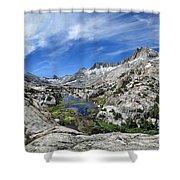 Seven Gables Over Seven Gables Lakes - Sierra Shower Curtain