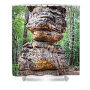 Seven Loaves - Rock Formation Shower Curtain