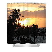 Seven Mile Sunset Shower Curtain
