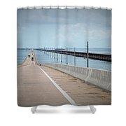 Seven Miles Of Bridge Shower Curtain