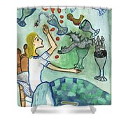 Seven Of Cups And Strange Dreams Shower Curtain
