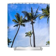 Seven Palms Of Paradise Shower Curtain