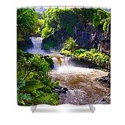 Seven Sacred Pools Maui Shower Curtain