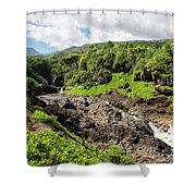 Seven Sacred Pools Ohe'o Mau Shower Curtain