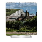 Seven Sisters Cottage Shower Curtain