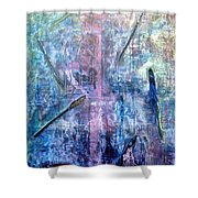 Seven Zippers Shower Curtain