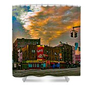 Seventh And Bleeker At Sunrise Nyc Shower Curtain