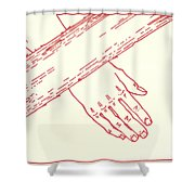 Seventh Station- Jesus Falls The Second Time  Shower Curtain