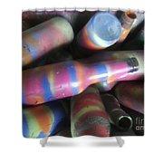 Seventies Bottles Shower Curtain