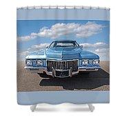 Seventies Superstar - '71 Cadillac Shower Curtain