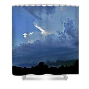 Severe Weather And Waxing Crescent Moon Shower Curtain