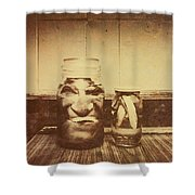 Severed And Preserved Head And Hand In Jars Shower Curtain