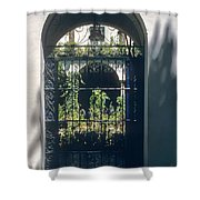 Seville City Courtyard Shower Curtain