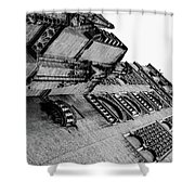 Seville - Giralda In Black And White Shower Curtain