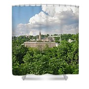 Seville Schofields Mill And St John The Baptist - Manayunk Shower Curtain