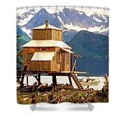 Seward Alaska House Of Stilts Shower Curtain