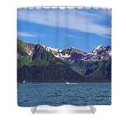 Seward Mountains Shower Curtain