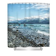 Seward Seashore Shower Curtain