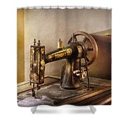 Sewing - A Black And White Sewing Machine  Shower Curtain