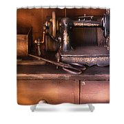 Sewing - New National Sewing Machine  Shower Curtain