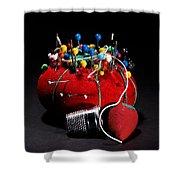 Sewing Equipment - Pin Cushion Shower Curtain