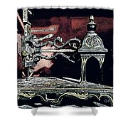 Sewing Machine, Needlepoint Shower Curtain