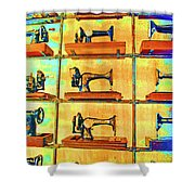 Sewing Machines Come To Life Shower Curtain