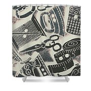 Sewing Scenes Shower Curtain