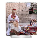 Sewing Souvenirs In Old Dubrovnik Shower Curtain