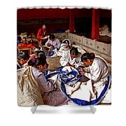 Sewing Tapestries Shower Curtain