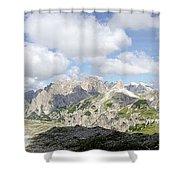 Sextener Dolomites Shower Curtain
