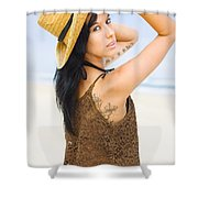 Sexy Beach Adventure Shower Curtain