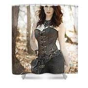 Sexy Steam Punk Shower Curtain