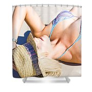 Sexy Woman On Sand Shower Curtain