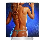 Sexy Young Woman Shower Curtain